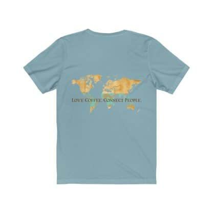 18086 2 416x416 - Love Coffee. Connect People. Unisex Light Short Sleeve Tee - The Funky Brewster Coffee Catering