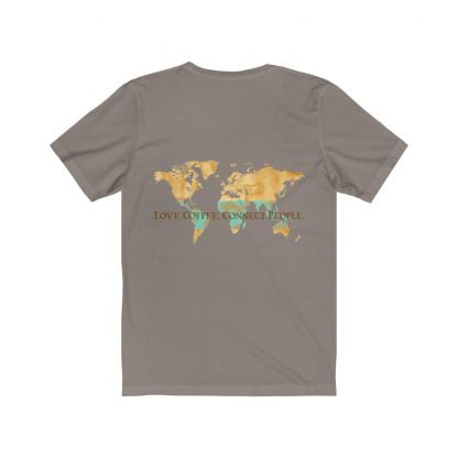 18430 1 416x416 - Love Coffee. Connect People. Unisex Light Short Sleeve Tee - The Funky Brewster Coffee Catering