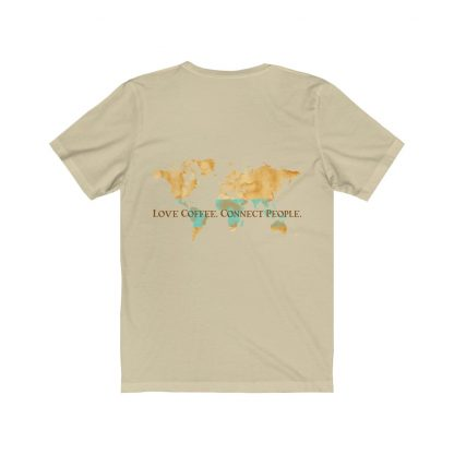 18462 2 416x416 - Love Coffee. Connect People. Unisex Light Short Sleeve Tee - The Funky Brewster Coffee Catering