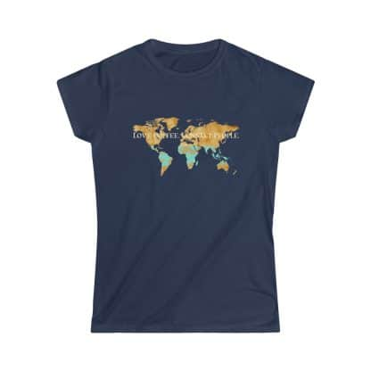 33862 4 416x416 - Women's Love Coffee. Connect People. Softstyle Tee - The Funky Brewster Coffee Catering