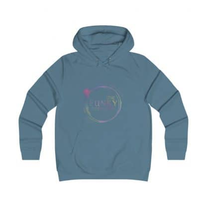 36696 416x416 - Rainbow Logo Girlie College Hoodie - The Funky Brewster Coffee Catering