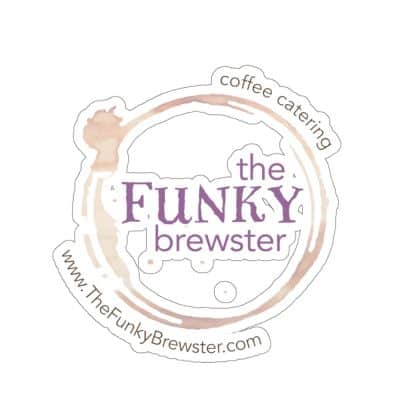 45748 416x416 - The Funky Brewster Logo Sticker - The Funky Brewster Coffee Catering