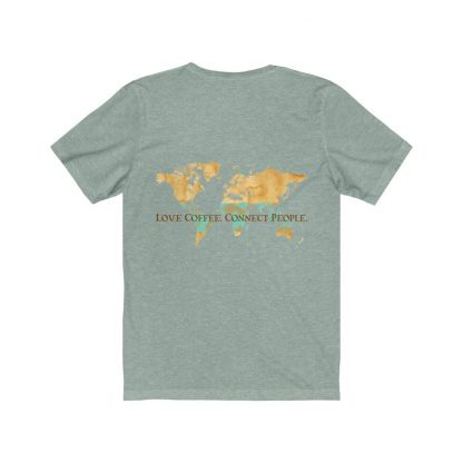 63212 2 416x416 - Love Coffee. Connect People. Unisex Light Short Sleeve Tee - The Funky Brewster Coffee Catering