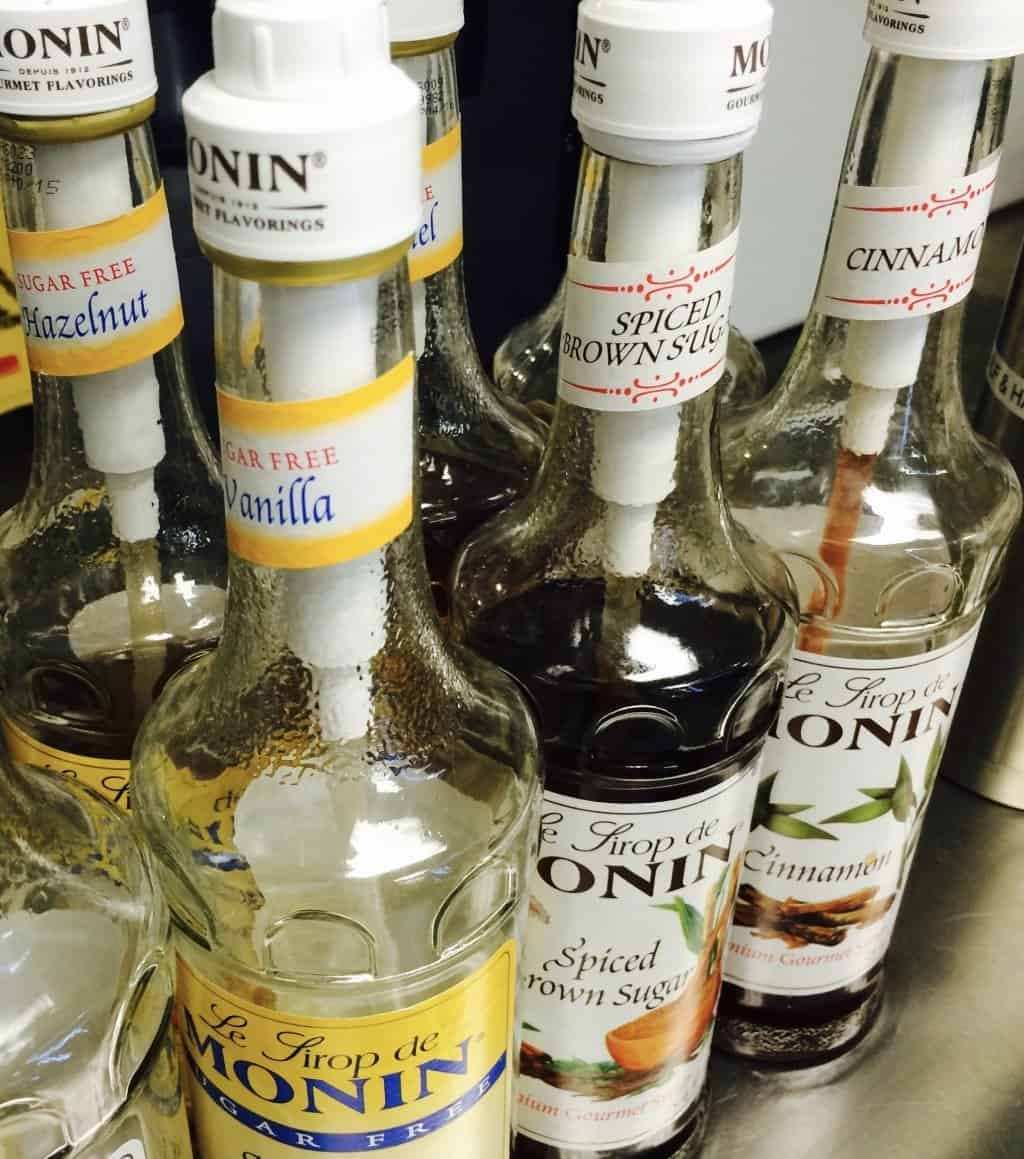 assortment of syrup flavors by monin - assortment-of-syrup-flavors-by-monin - The Funky Brewster Coffee Catering