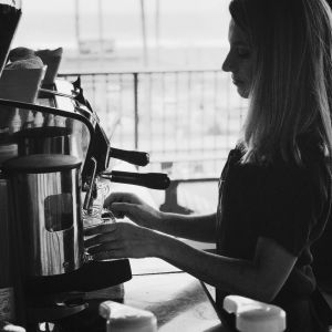 barista pulling espresso shots 300x300 - Photo Gallery - The Funky Brewster Coffee Catering