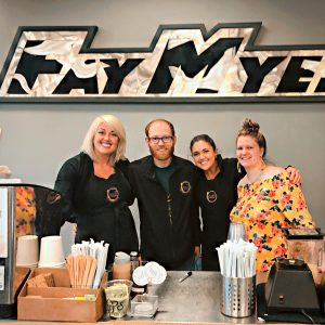 baristas at fay myers 300x300 - Coffee Cart Event Photos - The Funky Brewster Coffee Catering