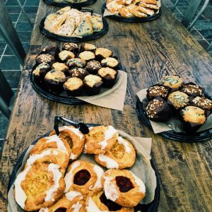 catering event with pastries 300x300 - General Event Photos - The Funky Brewster Coffee Catering