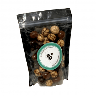 chocolate covered espresso beans white 324x324 - Concentric Coffee Chocolate Covered Espresso Beans - 8 oz - The Funky Brewster Coffee Catering