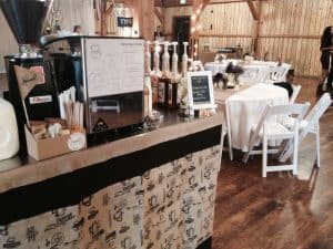 coffee cart at formal wedding venue 300x225 - Cart Gallery Test - The Funky Brewster Coffee Catering
