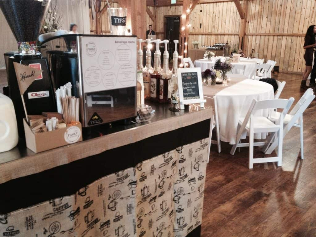 coffee cart at formal wedding venue - coffee-cart-at-formal-wedding-venue - The Funky Brewster Coffee Catering