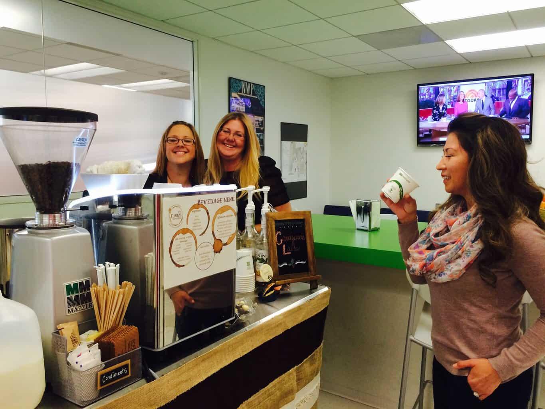 coffee cart office employee appreciation happy baristas - coffee-cart-office-employee-appreciation-happy-baristas - The Funky Brewster Coffee Catering