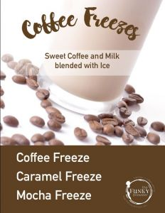 coffee freeze chalkboard menu full page 232x300 - Additional Beverage Options - The Funky Brewster Coffee Catering