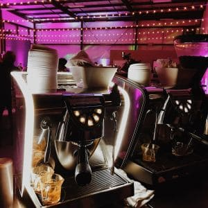 double cart in the dark 300x300 - Photo Gallery - The Funky Brewster Coffee Catering