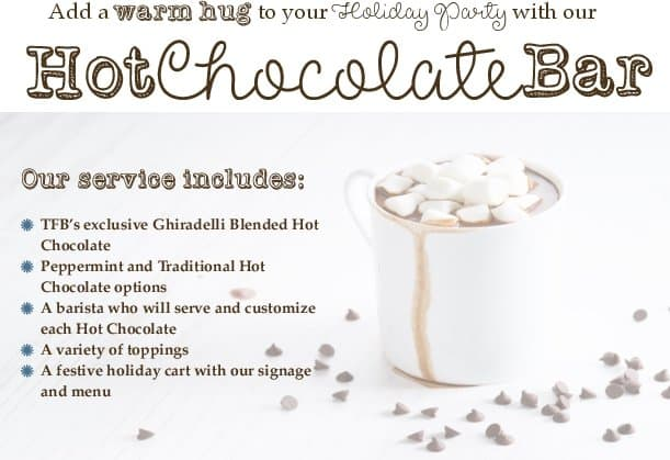 hot chocolate bar holiday party flyer - Welcome - The Funky Brewster Coffee Catering