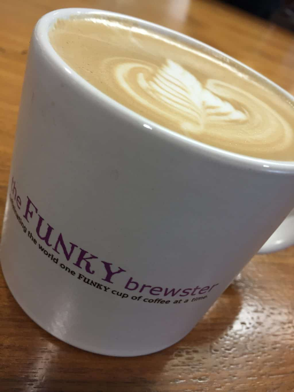 latte art tfb mug - latte-art-tfb-mug - The Funky Brewster Coffee Catering