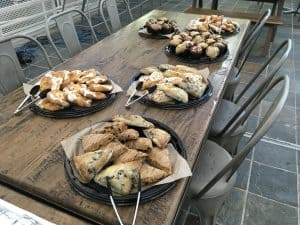 pastries go great with coffee carts 300x225 - Food - Denver Pricing - The Funky Brewster Coffee Catering