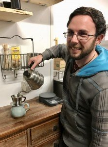 phillip denver barista with pour over 222x300 - Our Baristas - The Funky Brewster Coffee Catering