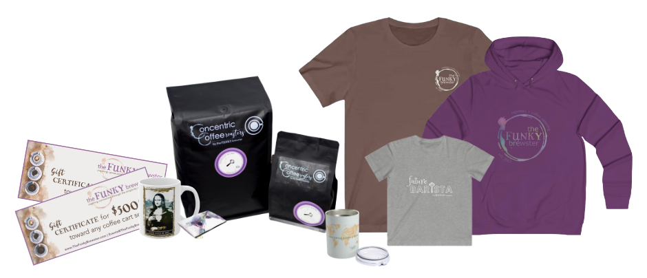 swag shop products1 -  - The Funky Brewster Coffee Catering